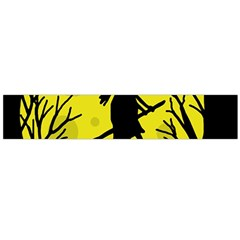 Halloween Witch   Yellow Moon Flano Scarf (large) by Valentinaart