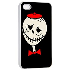Halloween Monster Apple Iphone 4/4s Seamless Case (white) by Valentinaart