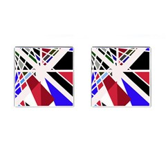 Decorative Flag Design Cufflinks (square)
