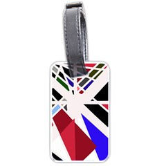 Decorative Flag Design Luggage Tags (one Side)  by Valentinaart