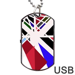 Decorative Flag Design Dog Tag Usb Flash (two Sides)  by Valentinaart