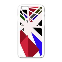Decorative Flag Design Apple Iphone 6/6s White Enamel Case by Valentinaart