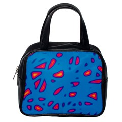 Blue And Red Neon Classic Handbags (one Side) by Valentinaart