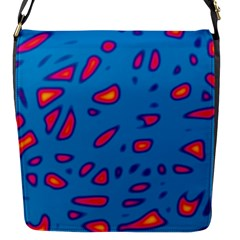 Blue And Red Neon Flap Messenger Bag (s)