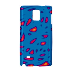 Blue And Red Neon Samsung Galaxy Note 4 Hardshell Case
