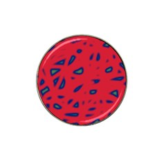 Red Neon Hat Clip Ball Marker (4 Pack) by Valentinaart