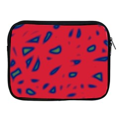Red Neon Apple Ipad 2/3/4 Zipper Cases by Valentinaart