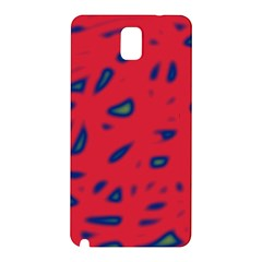 Red Neon Samsung Galaxy Note 3 N9005 Hardshell Back Case by Valentinaart