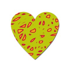 Yellow Neon Design Heart Magnet by Valentinaart