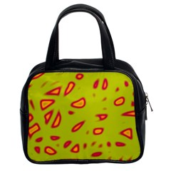 Yellow Neon Design Classic Handbags (2 Sides) by Valentinaart