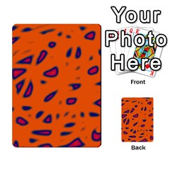 Orange Neon Multi Purpose Cards (rectangle)  by Valentinaart