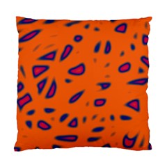 Orange Neon Standard Cushion Case (two Sides) by Valentinaart