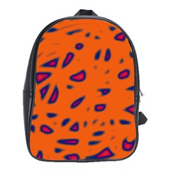 Orange Neon School Bags (xl)  by Valentinaart
