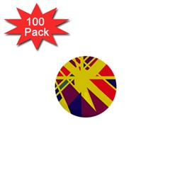 Hot Abstraction 1  Mini Buttons (100 Pack)
