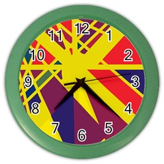 Hot Abstraction Color Wall Clocks by Valentinaart