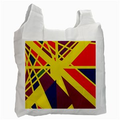 Hot Abstraction Recycle Bag (one Side) by Valentinaart
