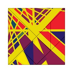 Hot Abstraction Acrylic Tangram Puzzle (6  X 6 ) by Valentinaart