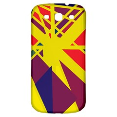 Hot Abstraction Samsung Galaxy S3 S Iii Classic Hardshell Back Case by Valentinaart