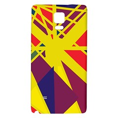 Hot Abstraction Galaxy Note 4 Back Case by Valentinaart