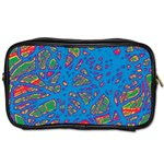 Colorful neon chaos Toiletries Bags Front
