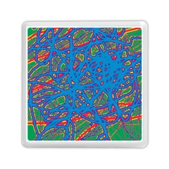 Colorful Neon Chaos Memory Card Reader (square)  by Valentinaart