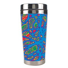 Colorful Neon Chaos Stainless Steel Travel Tumblers
