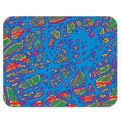 Colorful Neon Chaos Double Sided Flano Blanket (medium)  by Valentinaart