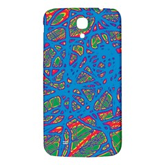 Colorful Neon Chaos Samsung Galaxy Mega I9200 Hardshell Back Case by Valentinaart