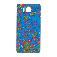 Colorful Neon Chaos Samsung Galaxy Alpha Hardshell Back Case by Valentinaart