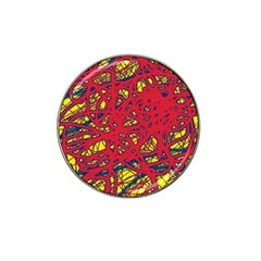 Yellow And Red Neon Design Hat Clip Ball Marker by Valentinaart