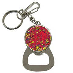 Yellow And Red Neon Design Bottle Opener Key Chains by Valentinaart