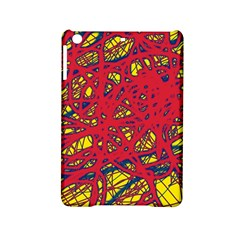 Yellow And Red Neon Design Ipad Mini 2 Hardshell Cases by Valentinaart