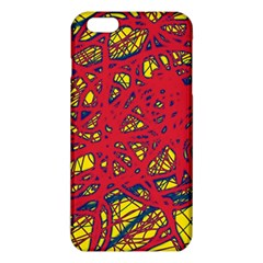 Yellow And Red Neon Design Iphone 6 Plus/6s Plus Tpu Case by Valentinaart