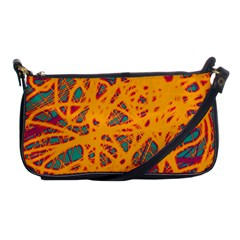 Orange Neon Chaos Shoulder Clutch Bags