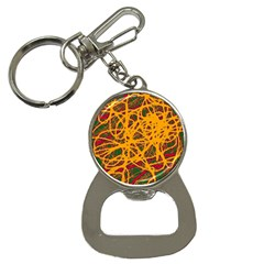 Yellow Neon Chaos Bottle Opener Key Chains by Valentinaart