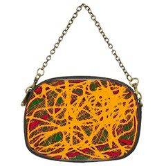 Yellow Neon Chaos Chain Purses (two Sides)  by Valentinaart