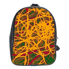 Yellow Neon Chaos School Bags(large)