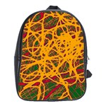 Yellow neon chaos School Bags(Large)  Front