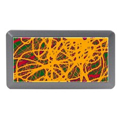 Yellow Neon Chaos Memory Card Reader (mini) by Valentinaart