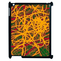 Yellow Neon Chaos Apple Ipad 2 Case (black)