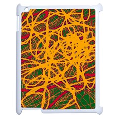 Yellow Neon Chaos Apple Ipad 2 Case (white) by Valentinaart
