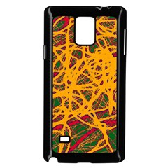 Yellow Neon Chaos Samsung Galaxy Note 4 Case (black) by Valentinaart