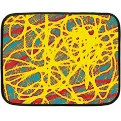 Yellow Neon Fleece Blanket (mini) by Valentinaart