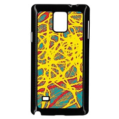 Yellow Neon Samsung Galaxy Note 4 Case (black) by Valentinaart