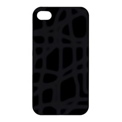 Gray Apple Iphone 4/4s Hardshell Case by Valentinaart