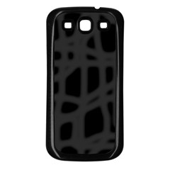 Gray Samsung Galaxy S3 Back Case (black) by Valentinaart