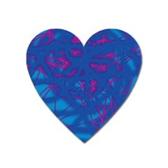 Deep Blue Heart Magnet by Valentinaart
