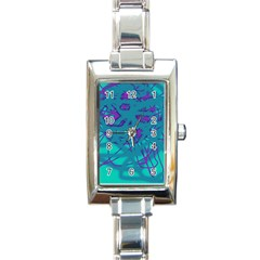 Chaos Rectangle Italian Charm Watch by Valentinaart