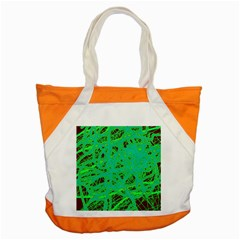 Green Neon Accent Tote Bag by Valentinaart