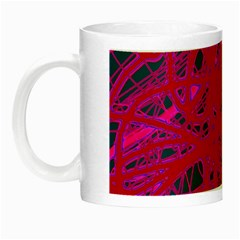Red Neon Night Luminous Mugs by Valentinaart